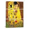 iCanvas Gustav Klimt The Kiss 3 Piece on Wrapped Canvas Set