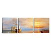 iCanvas J.M.W Turner Fighting Temeraire 3 Piece on Wrapped Canvas Set