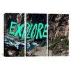 iCanvas Leah Flores Explore River 3 Piece on Wrapped Canvas Set