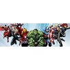 iCanvas Comics (Avengers) - Avenger Heroes Flying Panoramic by Marvel Comics Graphic Art on Canvas