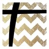 iCanvas Plus - Bold Gold Chevron Textual Art on Canvas