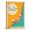 iCanvas 'Dive into Sunshine - California' by Anderson Design Group Vintage Advertisement on Canvas