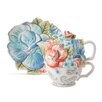 Fitz and Floyd Paisley Park Tea for one and Snack Plate Set