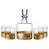 Fitz and Floyd Daphne Fitz and Floyd 5 Piece Decanter and Glass Set