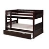 Camaflexi Camaflexi Low Bunk Bed with Twin Trundle