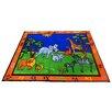Kids World Carpets Precious Babies Safari Animals Area Rug