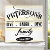 JDS Personalized Gifts Personalized Live.Laugh.Love Print on Wrapped Canvas
