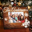 JDS Personalized Gifts Family Rosewood Snowflakes Picture Frame