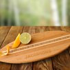 JDS Personalized Gifts Personalized Gift Surfboard Bamboo Cutting Board