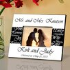 JDS Personalized Gifts Personalized Gift Mr. and Mrs. Wedding Picture Frame