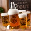 JDS Personalized Gifts 5 Piece Growler Set