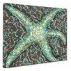 My Island Mosaic Starfish Mounted by Giclee Gerri Hyman Painting Print on Canvas