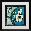 North American Art 'Teal Batik Botanical II' by Andrea Davis Framed Painting Print