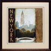 North American Art 'City Skyline New York' by Marco Fabiano Framed Vintage Advertisement