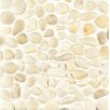 Bedrosians Hemisphere Stone Pebble Tile in Fatima Cream