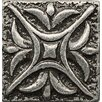 "Bedrosians Ambiance Insert Rising Star 1"" x 1"" Resin Tile in Pewter"