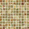 """Bedrosians Onyx 1"""" x 1"""" Marble Mosaic Tile in Palisades Green"""