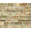 Bedrosians Onyx Random Sized Marble MosaicTile in Palisades Green