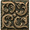 """Bedrosians Ambiance Insert Wave 1"""" x 1"""" Resin Tile in Bronze"""