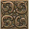 """Bedrosians Ambiance Insert Wave 2"""" x 2"""" Resin Tile in Bronze"""
