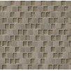 "Bedrosians Tessuto 0.75"" x 1"" Stone and Glass Mosaic Tile in Dark Gray"