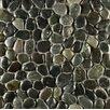 Bedrosians Hemisphere Random Sized Stone Pebble Tile in Ocean Black