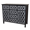 Gallerie Decor Trellis Cabinet 6 Drawer and 2 Door Chest