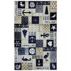 American Rug Craftsmen Escape Coastal Panels Navy Area Rug