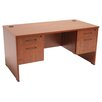 "Regency Sandia 60"" Writing Desk with Double Box/File Pedestal"