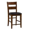 "Jofran Plantation 25"" Bar Stool with Cushion (Set of 2)"
