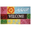 J and M Home Fashions Welcome Patchwork Quilt Doormat