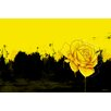 Maxwell Dickson 'Yellow Rose' Flower Graphic Art on Wrapped Canvas