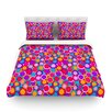 KESS InHouse My Colourful Circles by Julia Grifol Light Duvet Cover