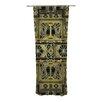 KESS InHouse Golden Art Deco Curtain Panels (Set of 2)