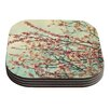 KESS InHouse Take a Rest by Sylvia Cook Coaster (Set of 4)