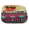 KESS InHouse Retro Diner by Sylvia Cook Coaster (Set of 4)