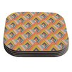 KESS InHouse So Cool by Akwaflorell Orange Yellow Coaster (Set of 4)