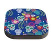 KESS InHouse Day of the Dead by Anneline Sophia Coaster (Set of 4)