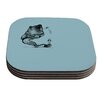 KESS InHouse Hot Tub Hunter II by Graham Curran Coaster (Set of 4)