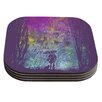 KESS InHouse Rain by Frederic Levy-Hadida Coaster (Set of 4)
