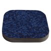 KESS InHouse Marble by Will Wild Abstract Coaster (Set of 4)