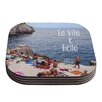 KESS InHouse La Vita e Bella by Nastasia Cook Coastal Typography Coaster (Set of 4)