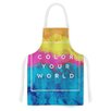 KESS InHouse Color Your World by Galaxy Eyes Rainbow Paint Artistic Apron