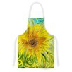 KESS InHouse Syau by Catherine Holcombe Yellow Green Artistic Apron