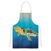 KESS InHouse Bubbles by Catherine Holcombe Turtle Artistic Apron