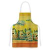 KESS InHouse Singing Cats by Carina Povarchik Yellow Artistic Apron