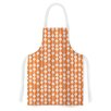 KESS InHouse You Cute by Heidi Jennings Tangerine White Artistic Apron