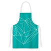 KESS InHouse Heart Graphic Turquoise by Mareike Boehmer Abstract Artistic Apron