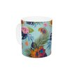 KESS InHouse Tropical Floral by Nika Martinez 11 oz. Flowers Ceramic Coffee Mug