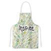 KESS InHouse Inspire Nature by Pom Graphic Design Green Artistic Apron